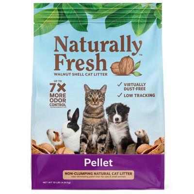 Naturally Fresh Pellet Non-Clumping Walnut Shell Cat Litter, 14-lb