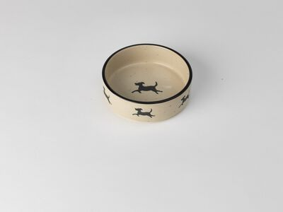 PetRageous Designs Chasing Dogs Dog Bowl, 2.5-cup