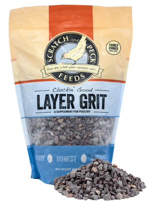Scratch and Peck Feeds Cluckin' Good Layer Grit Poultry Supplement, 7-lb