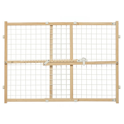 MidWest Wood/Wire Mesh Pet Gate, 24-in
