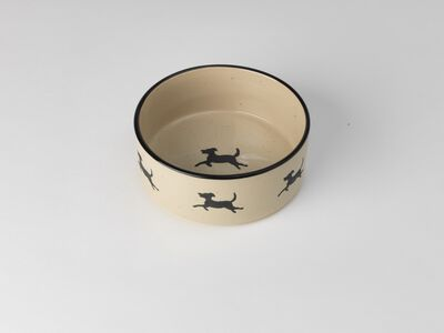 PetRageous Designs Chasing Dogs Dog Bowl, 6-cup