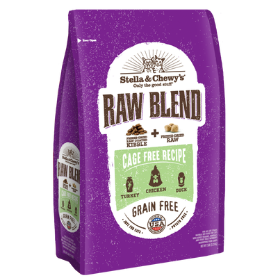 Stella  Chewy's Raw Blend Cage-Free Poultry Recipe Dry Cat Food, 5-lb
