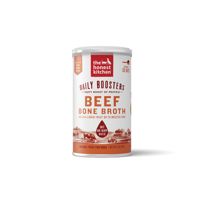 The Honest Kitchen Daily Boosters Instant Beef Bone Broth with Tumeric for Dogs, 3.6-oz