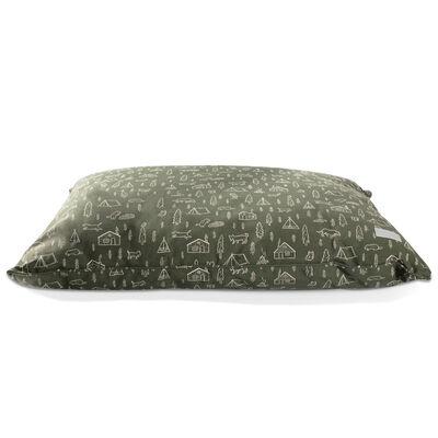 Fringe Pet Studios Pillow Dog Bed, Happy Camper, 36-in x 27-in