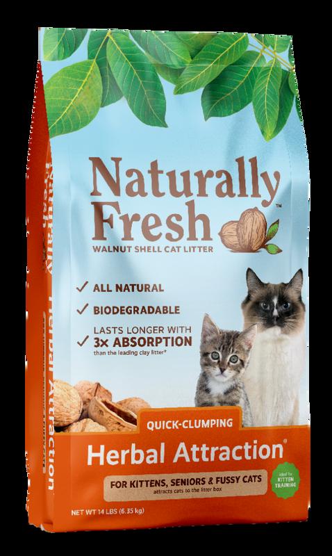 Naturally Fresh Herbal Attraction Quick-Clumping Walnut Shell Cat Litter, 14-lb