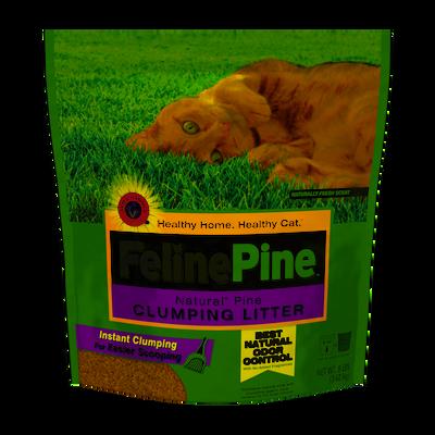 Feline Pine Clumping Cat Litter, 8-lb