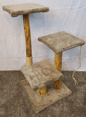 Willow Tree Woodworks 3-Step Cat Tree with Sisal, 45-inches