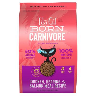 Tiki Cat Born Carnivore Chicken, Herring  Salmon Meal