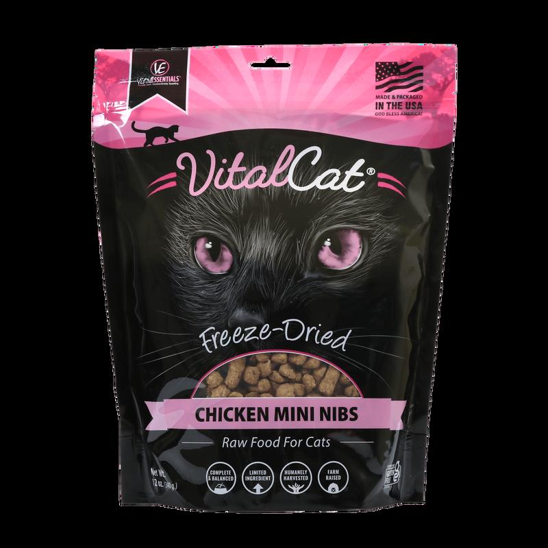 Vital Essentials Vital Cat Chicken Mini Nibs Entree Freeze-Dried Cat Food, 12-oz