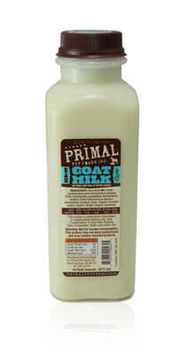 Primal Raw Frozen Goat Milk for Dogs  Cats, 16-oz