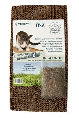 Mud Bay Mega Cat Scratcher Refills with Catnip, 2-pack