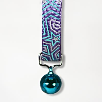 Goli Design Star Gazer Reflective Cat Collar, Blue on Purple