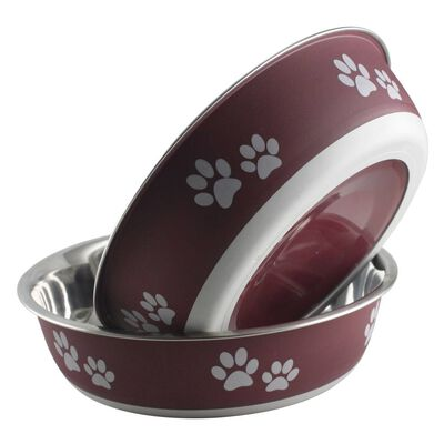 Indipets Buster Bowl, Merlot, Small, 15-oz