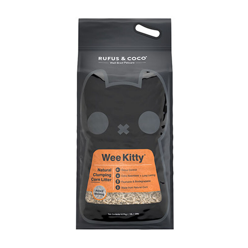 Rufus  Coco Wee Kitty Clumping Corn Cat Litter, 20-lb