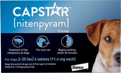 Capstar Oral Flea Treatment for Dogs 2-25 lbs, 6-pack