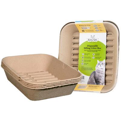 Kitty Sift Disposable Sifting Litter Box, Jumbo