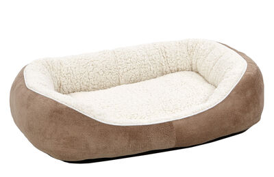 Midwest Quiet Time Cuddle Bed for Cats  Dogs, Taupe, Medium