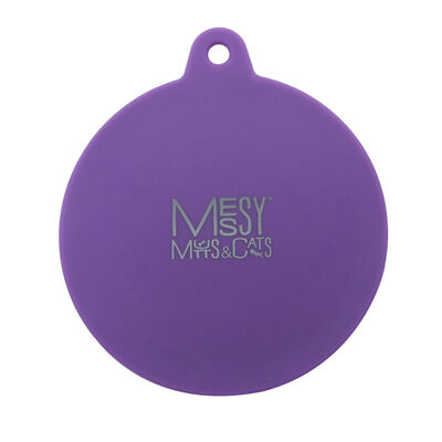 Messy Mutts Silicone Dog  Cat Can Cover, Purple