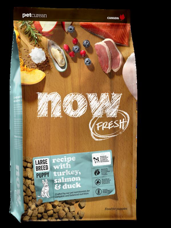NOW FRESH Turkey, Salmon  Duck Large Breed Puppy Grain-Free Dry Dog Food, 25-lb