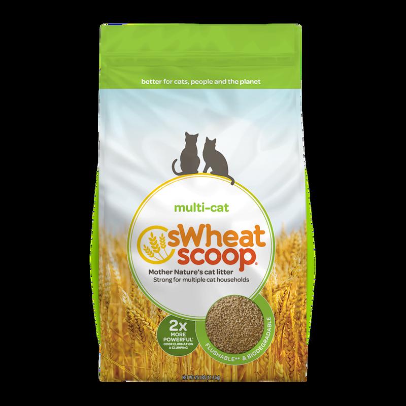 sWheat Scoop Multi-Cat Wheat Clumping Cat Litter, 25-lb