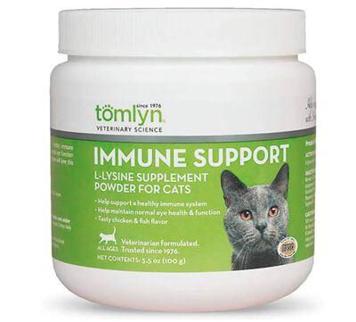 Tomlyn Immune Support L-Lysine Powder Cat Supplement, 3.5-oz tub