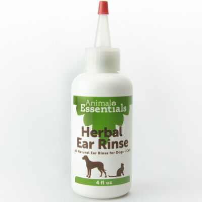 Animal Essentials Herbal Ear Rinse for Dogs  Cats, 4-oz bottle