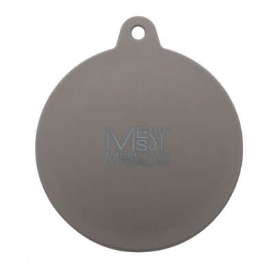 Messy Mutts Silicone Dog  Cat Can Cover, Grey