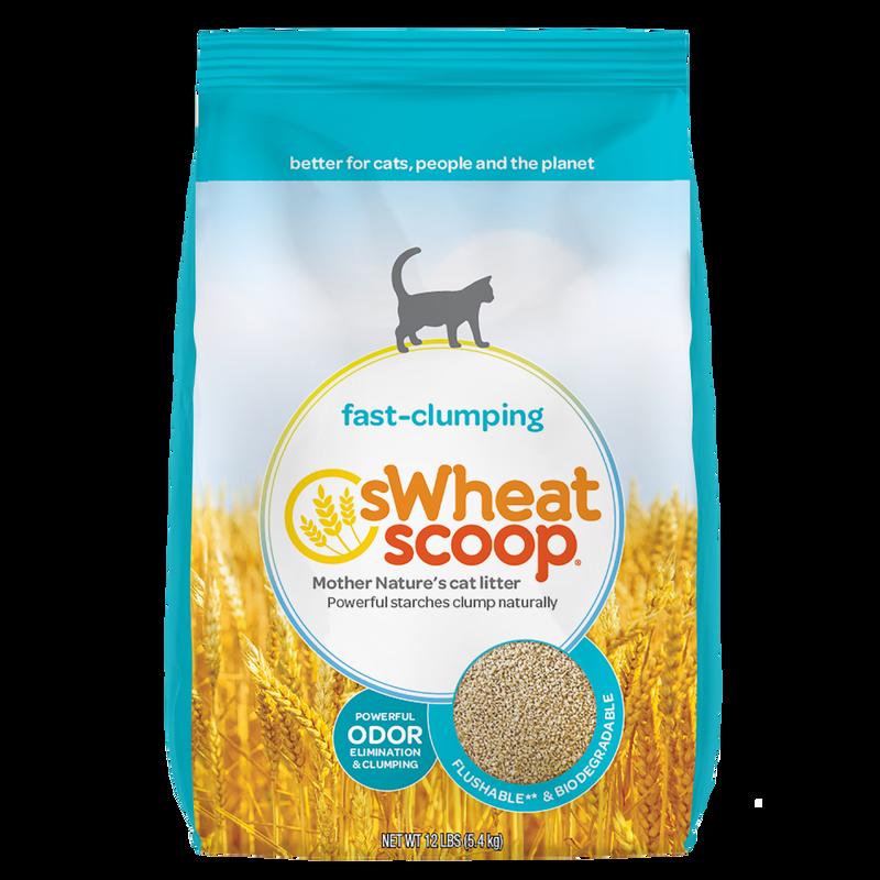 sWheat Scoop Original Wheat Clumping Cat Litter, 12-lb