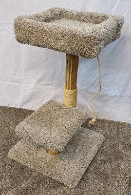 Willow Tree Woodworks Pedestal Bed Cat Tree with Sisal