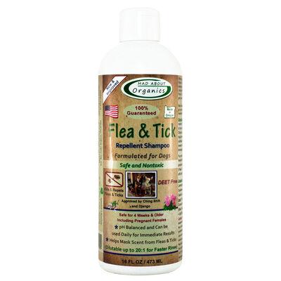 Mad About Organics Flea  Tick Repellent Shampoo for Dogs, 16-oz
