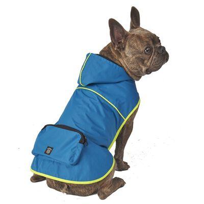 PetRageous Designs Banff Packable Rain Jacket, Blue, Small