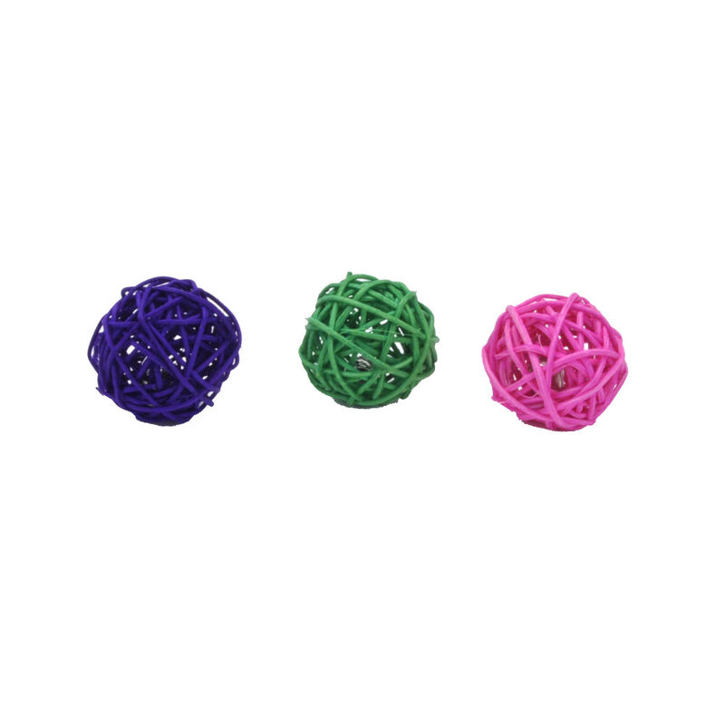 Turbo by Coastal Wicker Balls Cat Toy, Assorted Colors