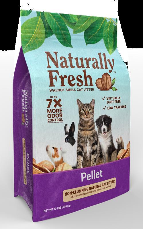 Naturally Fresh Pellet Non-Clumping Walnut Shell Cat Litter, 10-lb