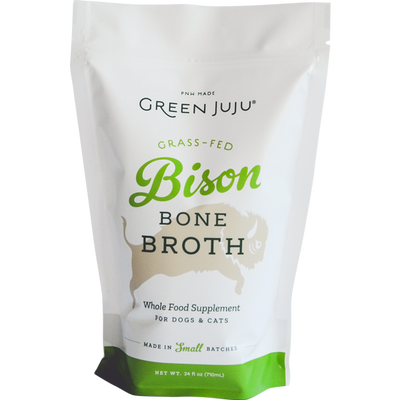 Green Juju Bison Bone Broth Supplement for Cats  Dogs, 20-oz