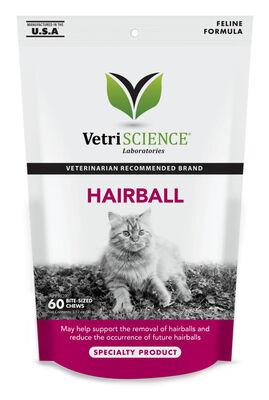 VetriScience Hairball Bite-Sized Cat Chews, 60 count