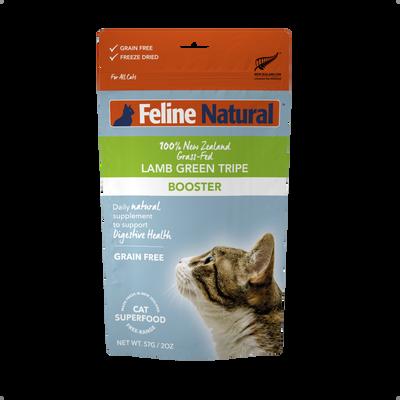 Feline Natural Booster Lamb Green Tripe Freeze-Dried Cat Food, 2-oz
