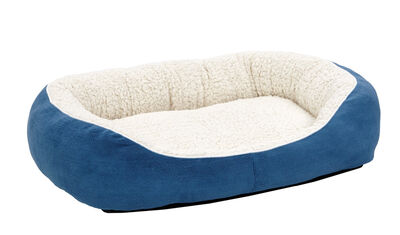 Midwest Quiet Time Cuddle Bed for Cats  Dogs, Blue, Medium
