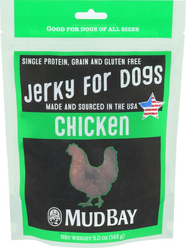 Mud Bay Chicken Jerky Dog Treat, 5-oz