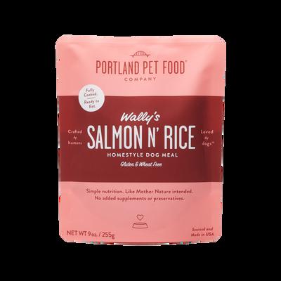 Portland Pet Food Company Wally's Salmon N' Rice Meal Wet Dog Food, 9-oz
