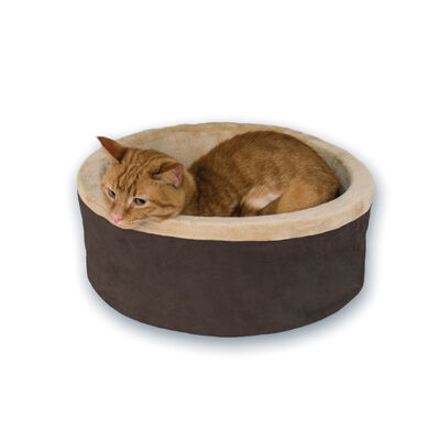 KH Pet Products Thermo-Kitty Cat Bed, Mocha, Small