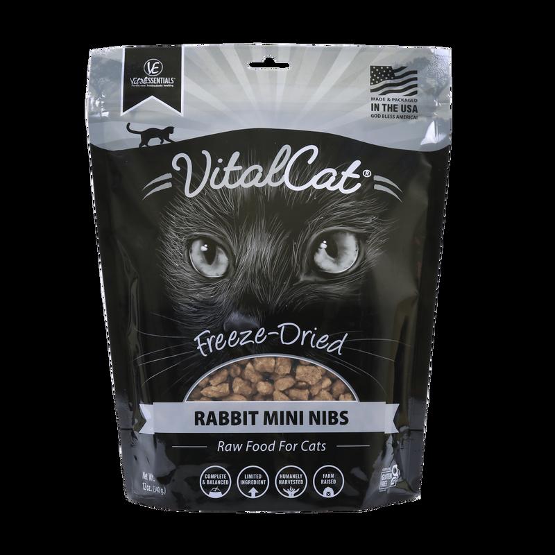 Vital Essentials Vital Cat Rabbit Mini Nibs Entree Freeze-Dried Cat Food, 12-oz