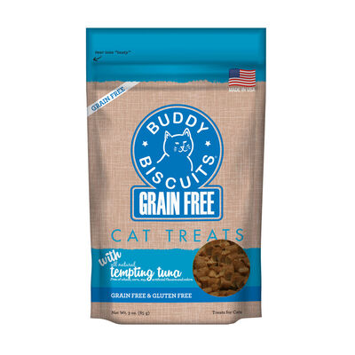 Buddy Biscuits Grain-Free with Tempting Tuna Cat Treats, 3-oz bag