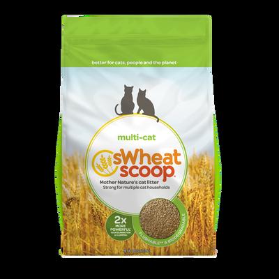sWheat Scoop Multi-Cat Wheat Clumping Cat Litter, 36-lb