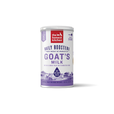 The Honest Kitchen Daily Boosters Instant Goat's Milk with Probiotics for Dogs  Cats, 5.2-oz